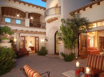"""Exterior patio of """"Casa Turquoise"""""""