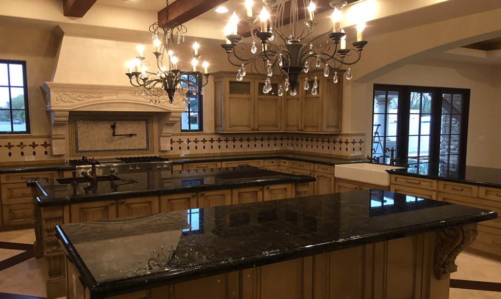 Tuscan Elegance Custom Home Kitchen