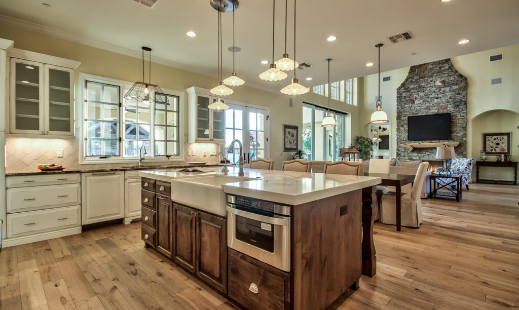 French Country Custom Home Kitchen