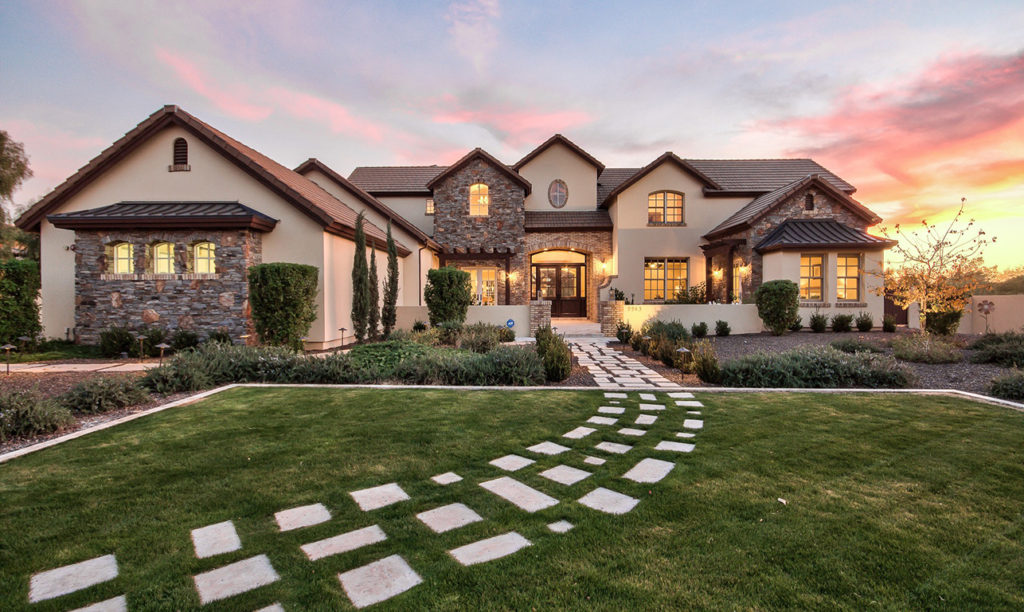 French Country Custom Home Exterior